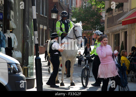 equestrian police force Hampstead London UK - Stock Photo