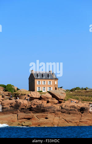 Gustave Eiffel House, Ploumanach, Cotes d'Armor, Brittany, France. - Stock Photo