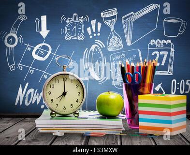Composite image of school supplies - Stock Photo