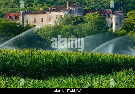 Chateau Arcambal, nr Cahors, Lot Valley, Quercy, France - Stock Photo