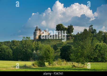 Chateau de Bayac, Pays de Bergerac, Périgord, Dordogne, Aquitaine, France - Stock Photo