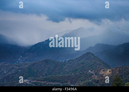 the Kaweah Valley, Sequoia National Park, California, USA Stock Photo