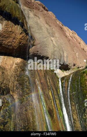 Semirom Waterfall area, isfahan, iran - Stock Photo