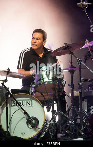 Aug 11, 2015 - Cary, North Carolina; USA - Drummer JON MOSS of the band Culture Club performs live as their 2015 - Stock Photo