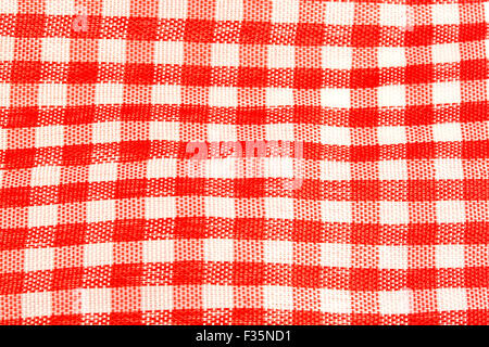 fabric red square can be used as background - Stock Photo