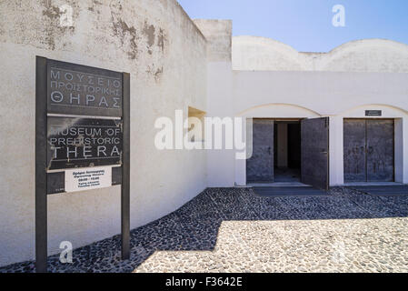 Cyclades, Santorini, Thira. Museum of Prehistoric Thera ...