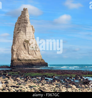 Etretat commune from viewpoint, France - Stock Photo