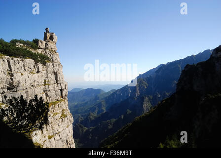 Mount Pasubio, locality Sogli Bianchi,  Veneto Pre-Alps.  On these mountains the Austrians and Italians fought the - Stock Photo