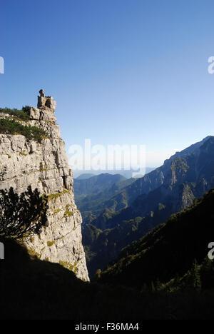Mount Pasubio, locality Sogli Bianchi,  Veneto Pre-Alps. On these mountains the Austrians and Italians fought the - Stock Photo