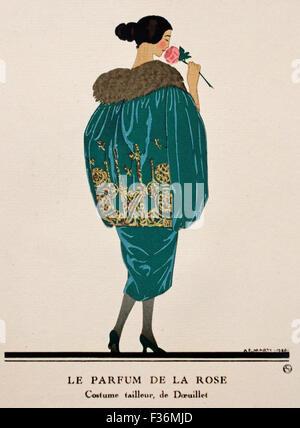 Gazette du Bon Ton Art - Modes & Frovolites Famous  Fashion Houses ( Published by Lucien Vogel 1886 - 1954 ) French - Stock Photo
