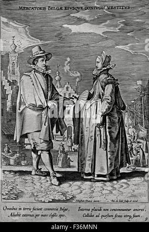 Officers in Peascod Doublets Hendrick Goltzius 1558-1617 Jacob de Gheyn II 1565-1629 etch ( Fashion to make the - Stock Photo