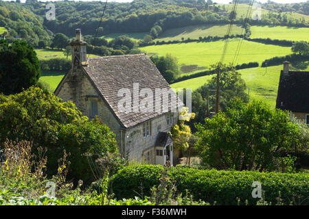 Slad a village in the Stroud valleys of the cotswolds, the home of poet and author Laurie Lee - Stock Photo