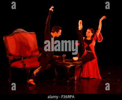 Prague, Czech Republic. 30th Sep, 2015. The rehearsal prior to the ballet Still Life premiere take place during - Stock Photo