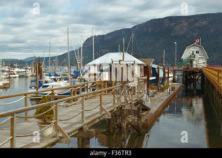 Nautical mood in the coastal village of Cowichan Bay, Vancouver Island, British Columbia, Canada, North America. - Stock Photo