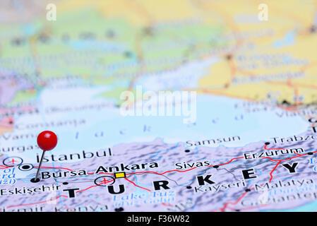 Map of Turkey Bursa Stock Vector Art Illustration Vector Image