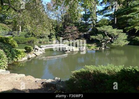 Japanese Garden At Fairmount Park, Philadelphia   Stock Photo