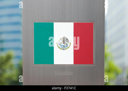 National flags on pole series - Mexico - Stock Photo