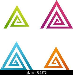 Business Abstract spiral triangle icon - Stock Photo