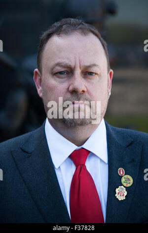 General Secretary of the National Union of Mineworkers Chris ...