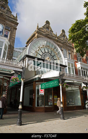 The Wayfarers shopping arcade in Southport - Stock Photo