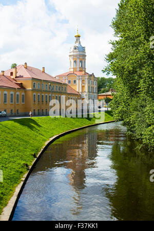 St. Petersburg, Russia - July 09, 2012: monastery Lavra of Alexander Nevsky. - Stock Photo