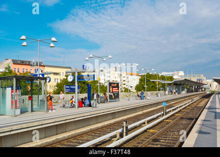 Charlotenburg S-Bahn station, west Berlin, Germany - Stock Photo