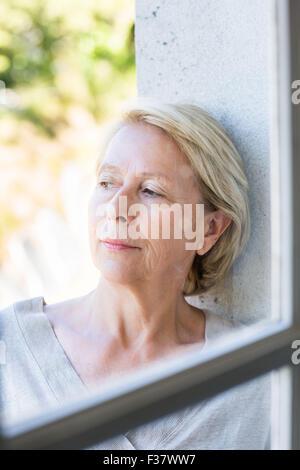 Senior woman portrait. - Stock Photo