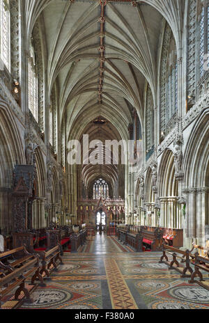 Lichfield Cathedral choir - Stock Photo