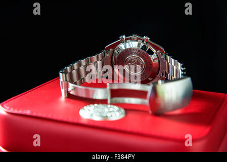 Omega Speedmaster Back - Stock Photo