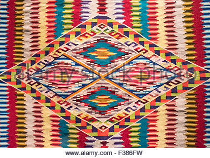 Full frame shot of Mexican native art pattern on a cloth. The art ...