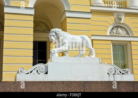 St. Petersburg, Russia - July 02, 2012: stone lion near Russian museum (Michael's palace) - Stock Photo
