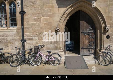 Ornate entrance to Trinity College building, Cambridge University, Cambridge, England UK - Stock Photo