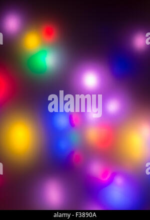 Bright neon lights background - multicoloured - Stock Photo