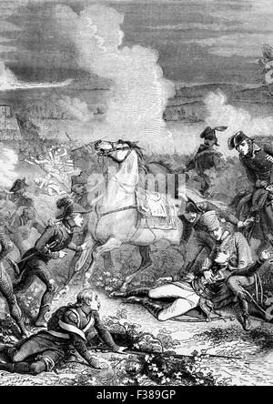 The death of General Louis Charles Antoine Desaix (1768 –1800), a French general and military leader during the - Stock Photo