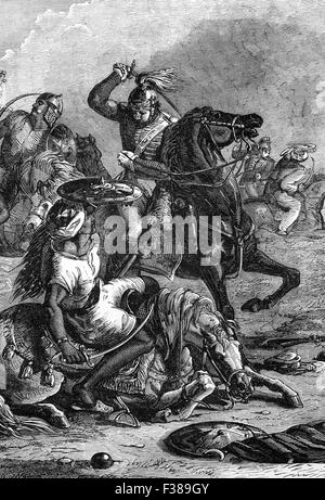 The Battle of Assaye was a major battle of the Second Anglo-Maratha War fought between the Maratha Confederacy and - Stock Photo