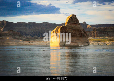 Lone Rock, Lake Powell - Stock Photo