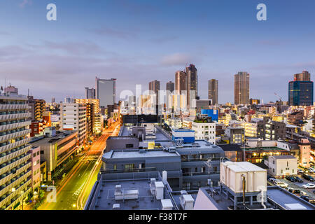 Kawasaki, Kanagawa, Japan downtown cityscape. - Stock Photo