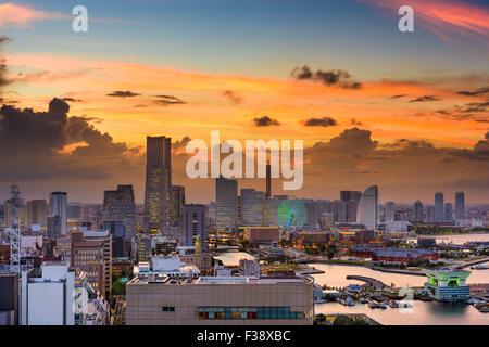 Yokohama, Japan city skyline. - Stock Photo