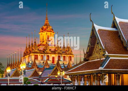 Wat Ratchanatdaram 'Metal Temple' in Bangkok, Thailand. - Stock Photo