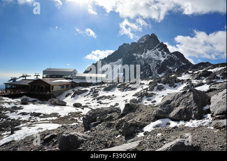 Yulong Snow Mountain in Yunnan, China - Stock Photo