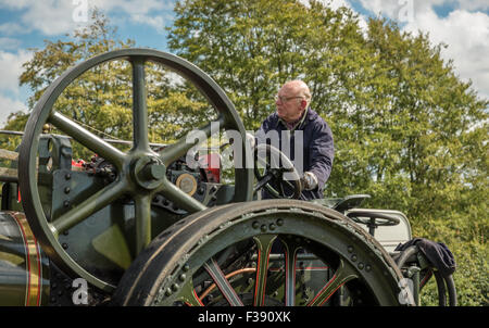 Detail of Vintage Steam Traction Locomotive - Stock Photo