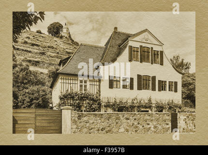 House Fliegenwedel, Am Jacobstein 40, is a listed building and Baroque winegrower's House, Radebeul, Saxony, Germany, - Stock Photo