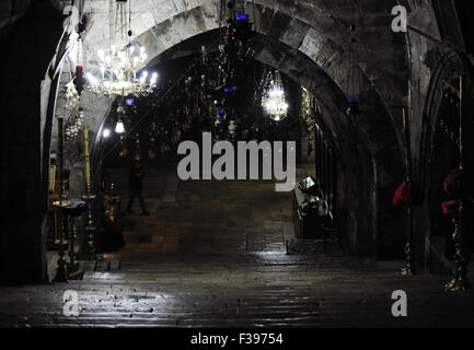 Israel. Jerusalem. Tomb of the Virgin Mary or Church of the Sepulchre of Saint Mary. Christian tomb in the Kidron - Stock Photo