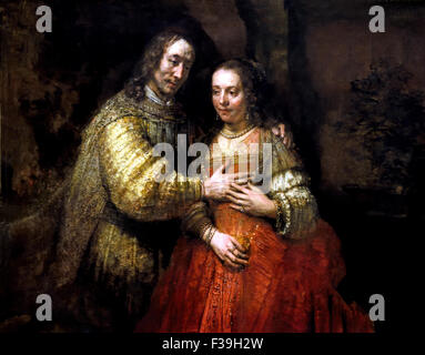 Isaac en Rebecca The Jewisch Bride Rembrandt Harmensz. van Rijn Dutch 1606–1669 Netherlands - Stock Photo