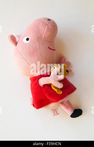 Peppa Pig ty beanies beanie isolated on white background - Stock Photo