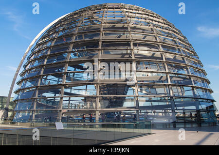 glass dome on top of berlin reichstag the german house of stock photo royalty free image. Black Bedroom Furniture Sets. Home Design Ideas