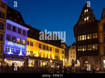 Square of the cathedral, Strasbourg, Bas-Rhin, Alsace, France - Stock Photo