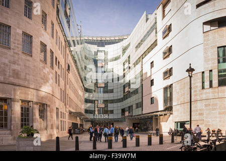 BBC building and HQ on Langham Place, London, United Kingdom - Stock Photo