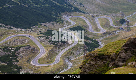 Transfagarasan mountain road, in Transylvania, Romanian Carpathians - Stock Photo