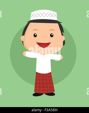 cute islamic boy - Stock Photo